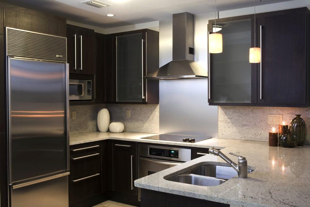 מטבח בצבע שחור